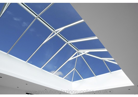 White inside lantern roof view