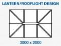 3000 x 2000 Lantern/Roof Light