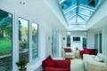 Aluminium bifold & lantern rooflight
