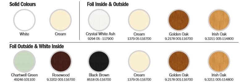 EcoSlide Colour and Foil Options